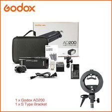 Godox 2.4G AD200 TTL Pocket Flash S Type Braceket 2900mAh Battery Speedlite