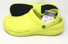 Crocs Work Bistro Clog Men's Size 15 Slip Resistant TENNIS BALL GREEN NEW