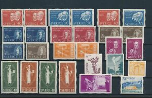 LN72179 Sweden mixed thematics nice lot of good stamps MNH