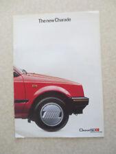 Original UK Daihatsu Charade cars advertising booklet