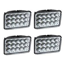 "4PCS 4x6"" Led Light Hi/Lo Beam Headlight For Peterbilt Kenworth Jeep Chevrolet"