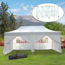 3x6 m Faltpavillon Pavillon Faltzelt Partyzelt Gartenzelt Weiß Fenster