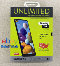 Straight Talk SAMSUNG Galaxy A21, 32GB 16MP Cam Black- Prepaid Smartphone