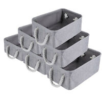 Large Foldable Storage Bins Boxes Cubes for Nursery Clothes Toys Books 3/6Pack