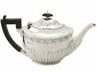 Sterling Silver Teapot - Queen Anne Style - Antique Edwardian