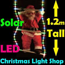 Santa Climbing MULTI LED RopeLight Ladder SOLAR Flashing Outdoor Christmas Light