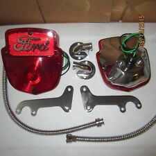1953-56 Ford F100 stainless light kit, right side pair with Ford script lenses .