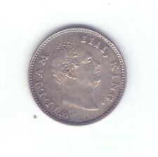 British India 1835 F quarter 1/4 rupee silver King William AUNC coin GOOD GRADE