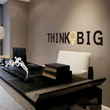 Art Vinyl Think Big Quote Wall Stickers Inspirational Removable Home Decal