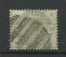1883/4 Sg 195, 9d Green (KJ) Good used.