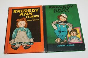 RAGGEDY ANN  RAGGEDY ANDY STORIES Lot of 2 HC Books Johnny Gruelle 1960 & 1961