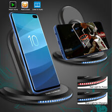 Qi Wireless Fast Charger Charging Pad Stand For Samsung S9 S10+ 5G iPhone Xs Xr
