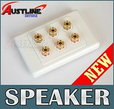 3 Speaker Wall Plate 6Port Datamaser fpr Home theatre