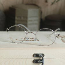 Mens Titanium Steve Jobs Glasses round silver retro rx optical lens Eyeglasses