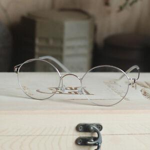Mens Steve Jobs Glasses Titanium alloy Eyeglasses Retro round silver RX eyewear