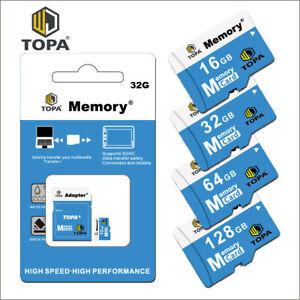 Ultra Micro SD SDHC Card Memory Card TF Class 10 4GB 16GB 32GB 64GB & SD Adapter