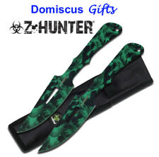 "10"" NEW 2 Pc. ZOMBIE THROWING Knives Throw Knife Z-Hunter Fantasy FREE SHIPPING!"