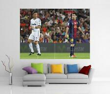 Messi Ronaldo Real Madrid Barcelona Fc Gigante De Pared Art Print Cartel H112