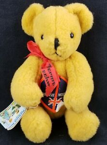 """The Rockwell American Bear Dean's Childsplay Toys Signed 12"""" British Wool Bear"""