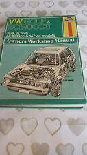 VW GOLF & SCIROCCO 1974-1976 HAYNES WORKSHOP MANUAL 284 USED COND FREE POSTAGE