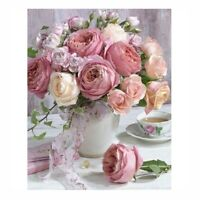 Pink Rose Flower Full Drill DIY 5D Diamond Painting Embroidery Cross Stitch Kit