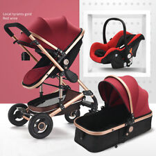 3 in 1 Baby Stroller High View Pram Car Seat Foldable Pushchairs Anti-rollover