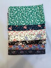 7 FQ'S FLORALS & IVY 100% Cotton Quilt Sewing Bundle Fabric Lot-FABRIC TRAD&VIP