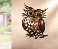14'' Metal Owl Wall Hanger Wall Art Yard Outdoor Lawn Garden Decor