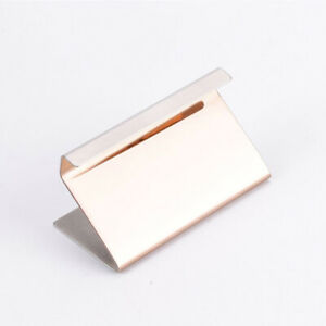Display Stand Table Stainless Steel Stable Solid Office Business Card Holder