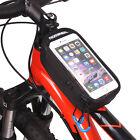 """ROSWHEEL Borsa Organizzatore Nero Porta Smartphone Tubo Anteriore Bici MTB 5.2"""""""