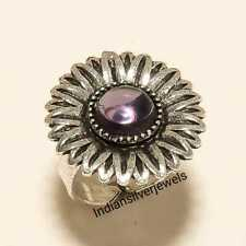 Amethyst Adjustable Ring Jewelry Silver Plated Ring Handmade Ring