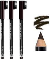 RIMMEL London Eyebrow Pencil with Brush Comb Define *PACK OF 3* *004 BLACK BROWN