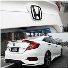 2016-2018 Black Front Rear Back Logo Emblem Badge Cover For Honda 10th Gen Civic