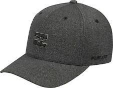 BILLABONG MENS BASEBALL CAP.ALL DAY FLEXIFIT GREY STRETCH CURVED PEAK HAT 8W 2 1