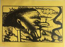 """ARNULF RAINER - """"Mexiko"""" Grosser Siebdruck handsigniert 1966"""
