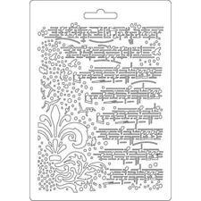 Soft Mould-STAMPERIA-flexible Gießform-A5-Musik-K3PTA504