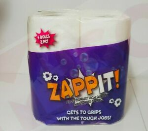 24 48 96 ZAPPIT 2ply x 10m Kitchen Towels High Rolls Quality Tissue White