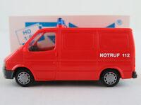 """Rietze 50530 Ford Transit Kastenwagen (1986) """"FEUERWEHR"""" in rot 1:87/H0 NEU/OVP"""