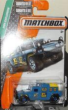 2015 Matchbox MBX Explorers Blue Hummer with Ramp Diecast 4+ Boys & Girls Thaila