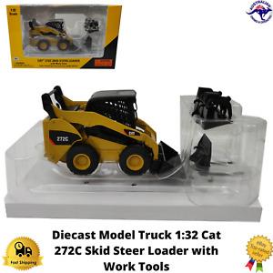 Diecast Model Truck 1:32 Cat 272C Skid Steer Loader Norscot Pallet Grapple New