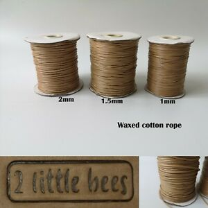 Waxed Polyester Cord Beige1/1.5/2mm Necklace Jewellery Rope String Thread