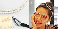 Cheveux Headband, serre tête bandeau accessoires, perles, NOIR, Bijoux fantaisie