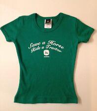 John Deere Little Girls Cowgirl Western Short Sleeve T-Shirt Tee Size J M/M