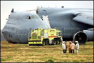 USAF C-5 Galaxy 436th AW After Crash Dover AFB 2006 8x12 Photo