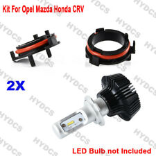 2x H7 LED Bulb Headlight Holder Adaptor Conversion Kit For Opel Mazda Honda CRV