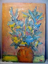 Expression    altes Ölgemälde Blumen in einer Vase Stilleben