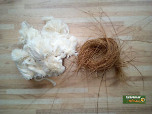 Nestmaterial, Nistmaterial, Scharpie, Moos, Sisal, Kokosfasern, Baumwolle, Jute