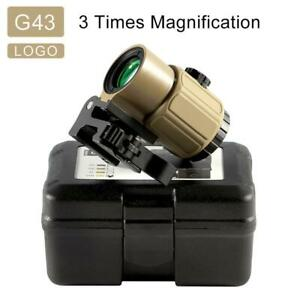 G43 Sight Airsoft 3x Magnifier G33 With Switch To Side Quick Detachable Qd Mount