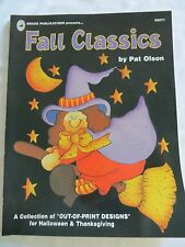 FALL CLASSICS BY PAT OLSON TOLE PAINTING BOOK WITCH, SCARECROW, HALLOWEEN, GHOST