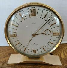 New ListingVtg French Brass 8 Day 7 Jewel Desk Clock Mazal Jaccard Freres Mid Century
